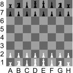 2D Chess set - Chessboard