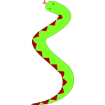 Green snake with red belly
