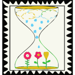 Waiting for spring stamp vector illustration