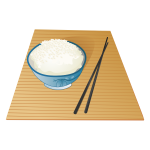 Rice pot vector illustration
