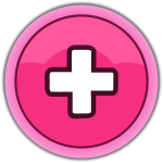 Pink plus button