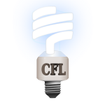 Compact fluorescent lamp vector illustration