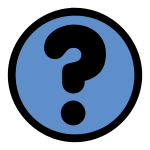 Round link sign with a question mark color illustration