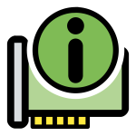 Vector graphics of primary hardware information KDE icon