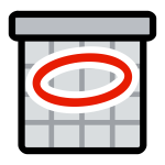 Vector clip art of primary schedule icon