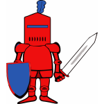 Vector illustration of classic knight in armor