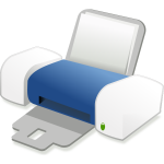 Blue Inkjet printer vector drawing