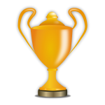 Award trophy vector illustration