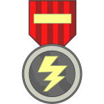 Tie shaped medal vector image