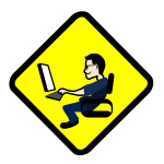 Computer warning sign