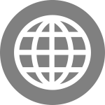Internet globe icon vector image