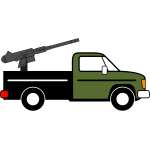 Fighting vehicle vector clip art