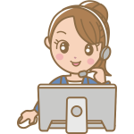 Female call centre worker vector image