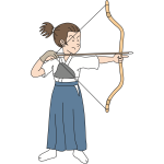 Female archer image