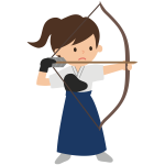Girl with bow and arrow