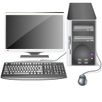 Desktop computer with display