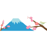 Mt. Fuji cherry blossoms