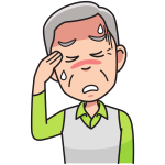 Grandpa with headache