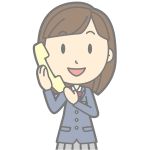 Female using telephone