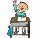 Raised hand student vector image