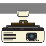 Video projector vector image