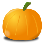 Pumpkin with shadow vector image