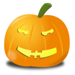 Puzzled pumpkin vector clip art