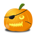 Pirate pumpkin vector graphics
