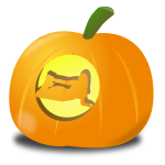 Girl pumpkin vector image