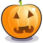 Spooky orange pumpkin vector illustration