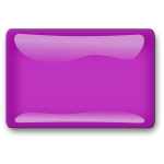 Gloss purple square button vector clip art