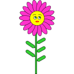 Purple smiling flower