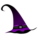 Purple witch hat vector clip art