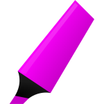 Vector graphics of purple highlighter