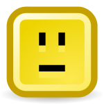 Confused smiley vector icon