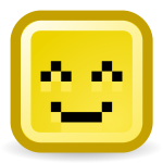 Happy smiley vector icon