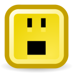Big mouth smiley vector icon