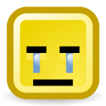 Crying smiley vector icon