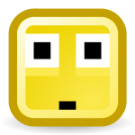 Surprised smiley vector icon