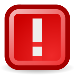 Warning vector icon
