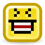 LOL smiley vector icon