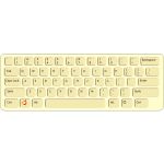 Color vector drawing of qwerty keyboard