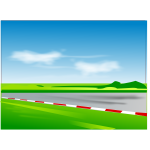 Vector illustration of racing road