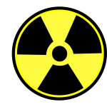 Radioactive warning label vector clip art