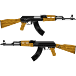 AK 47 Rifle Vector Image