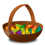 Empty Easter basket vector illustration