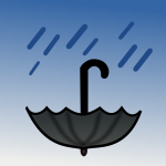 Rain water harvesting with an umbrella vector illustration