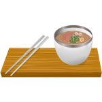 Ramen serving vector drawing