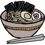 ramen bowl with nori