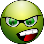 Green angry avatar vector image
